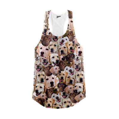 Labrador Retriever Faces Racerback Tank Top