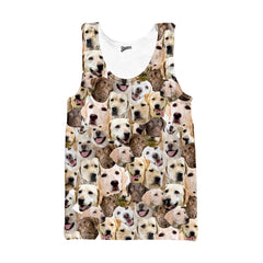 Labrador Retriever Faces Tank top