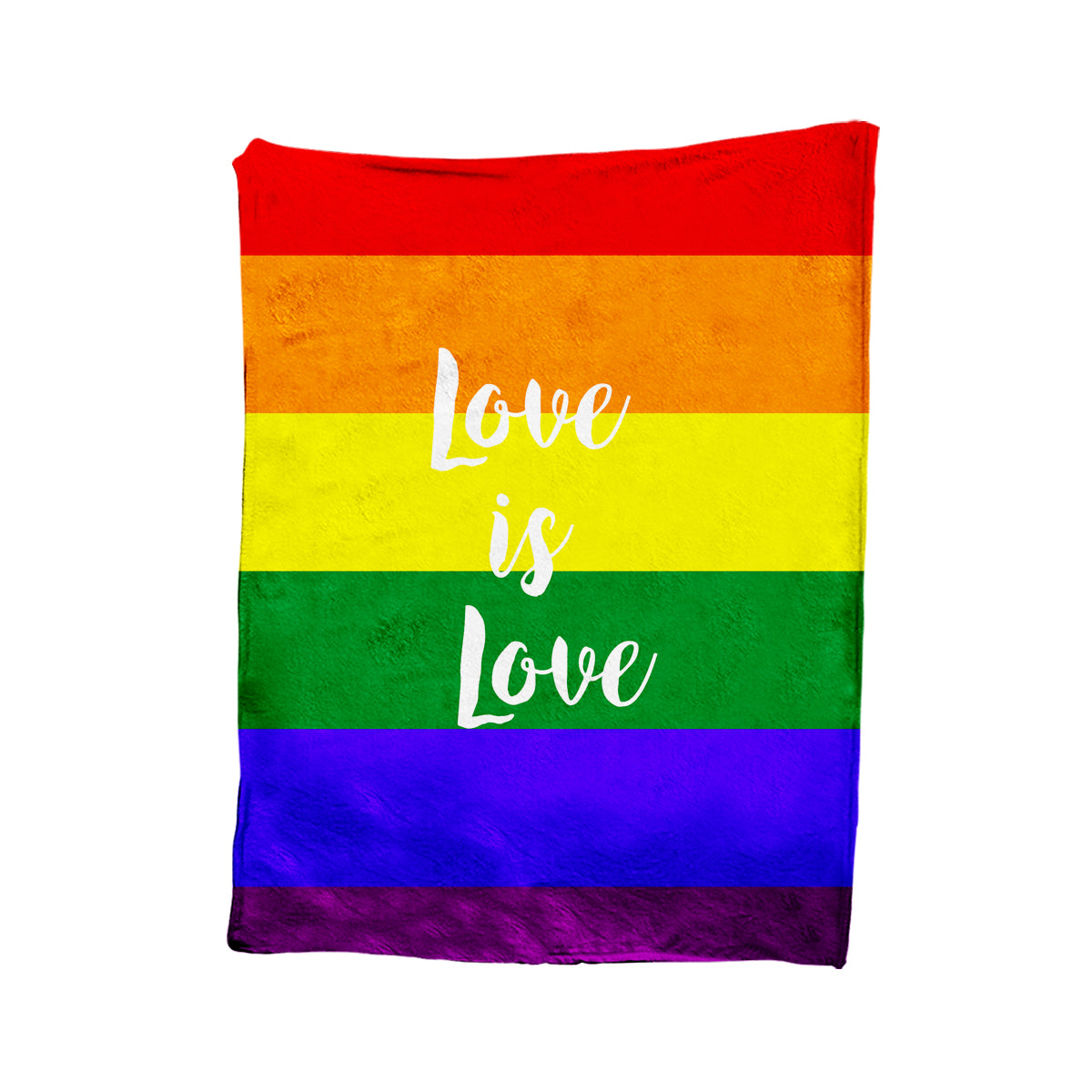 Love is Love LGBT Rainbow Blanket