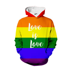 Love is Love Rainbow LGBT hoodie