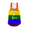 Image of Love is Love LGBT Rainbow Racerback Tank Top