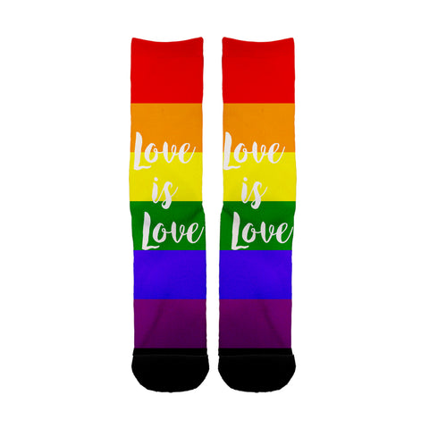 Love is Love Rainbow LGBT socks