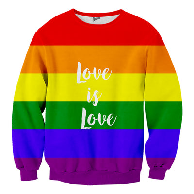 Love is Love LGBT rainbow sweater