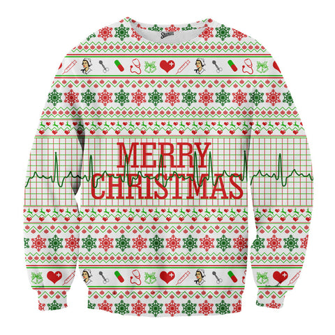 Nurse Tacky Christmas Sweater - Shweeet