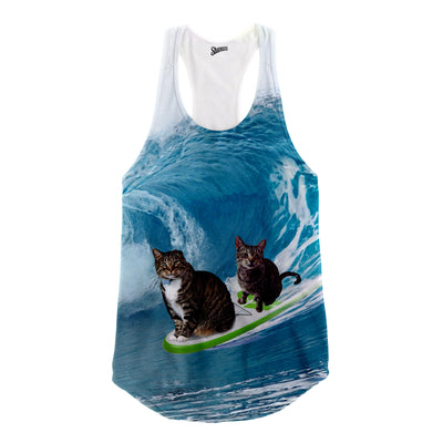 Oskar and Klaus Surfs Up! Racerback Tank Top - Shweeet