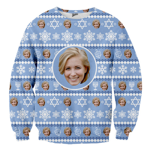Custom Face Hanukkah Sweater