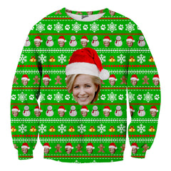 Custom Face Christmas Sweater - Shweeet