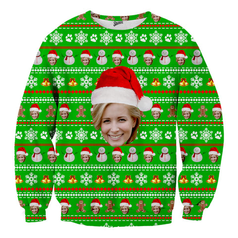 Custom Face Christmas Sweater