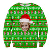 Image of Custom Face Christmas Sweater - Shweeet