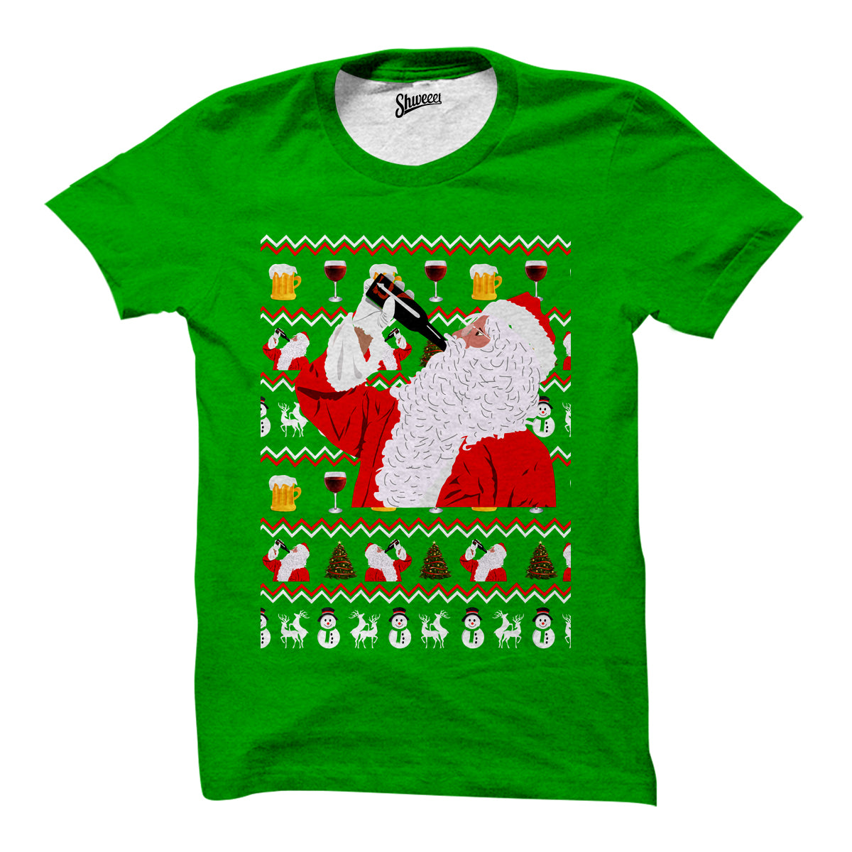 Drunk Santa Christmas T-shirt