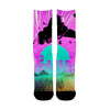 Vaporwave Jet brush Socks - Shweeet