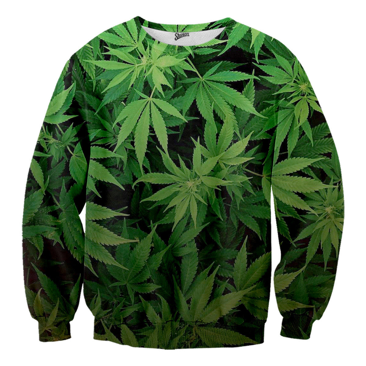 weed leaves sweater