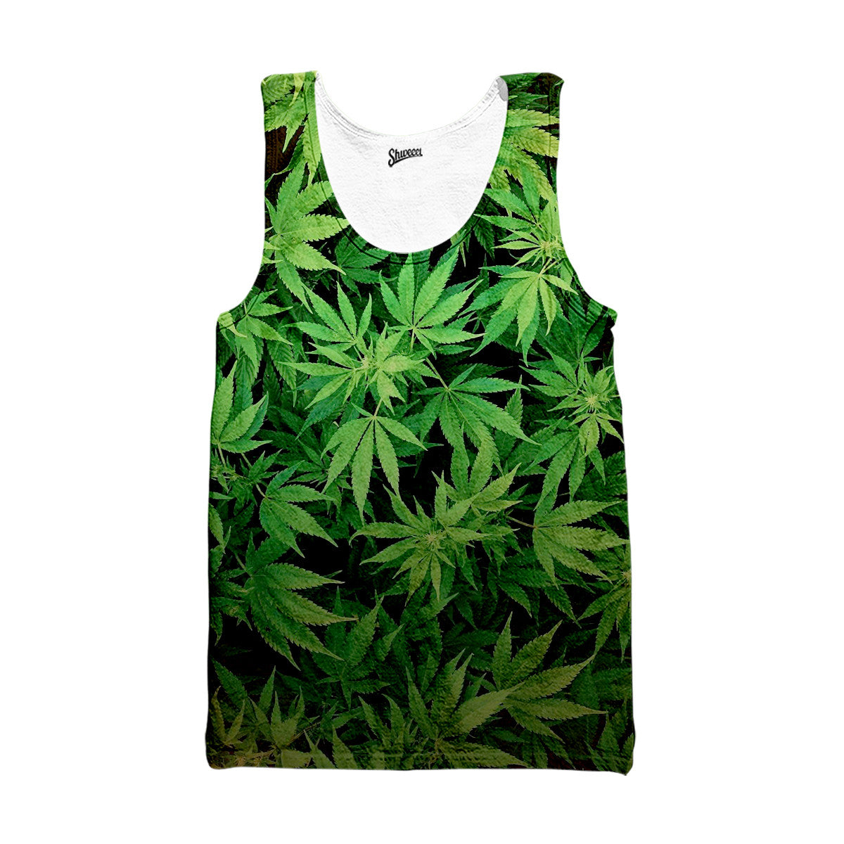 weed leaves tank top