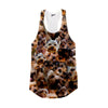 Image of Yorkshire Terrier Faces Racerback Tank Top