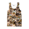 Image of Yorkshire Terrier Faces Tank top