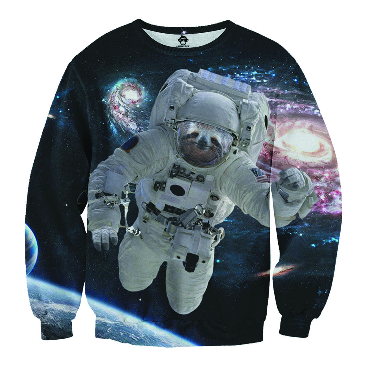 Astronaut Sloth Sweater - Shweeet