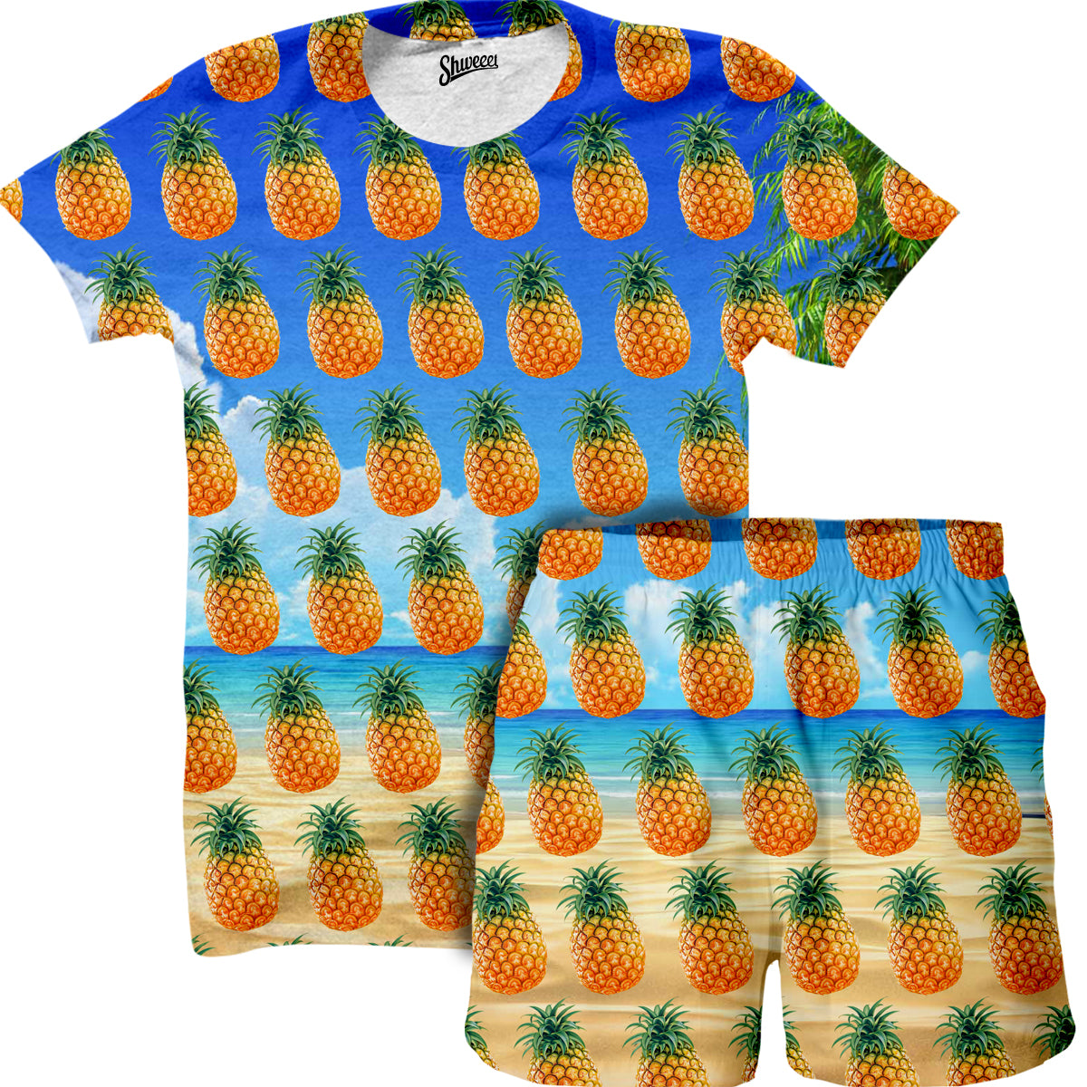 Beach Pineapple Shirt and Shorts Combo - Shweeet