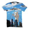 Cat UFO attack T shirt - Shweeet