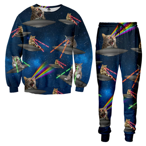 Cat UFO Laser Fight Tracksuit