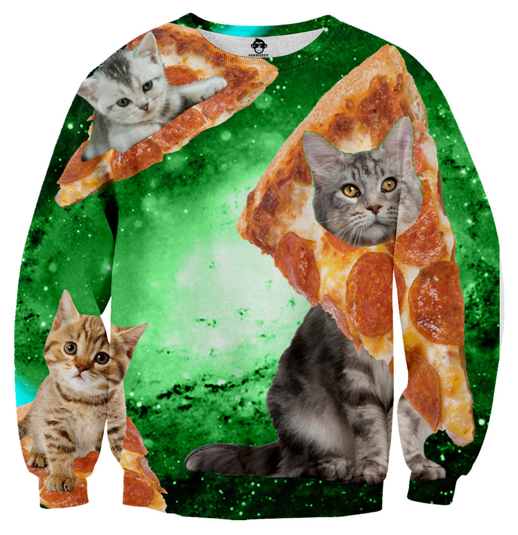 Cat Pizza Galaxy Long Sleeve