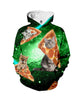 Image of Pizza Cat Galaxy Hoodie