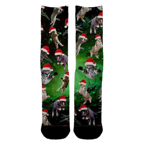 Galaxy Christmas Cats Socks - Shweeet