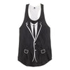 Suit and Tie Racerback Tank Top - Shweeet