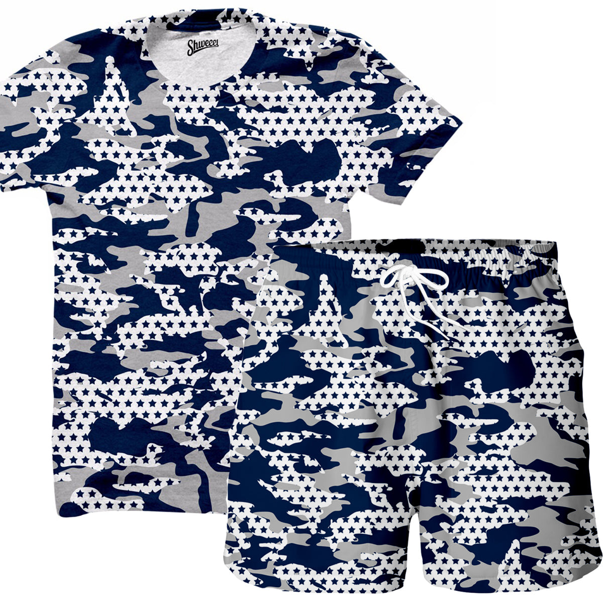 Dallas Camo Shirt and Shorts Combo