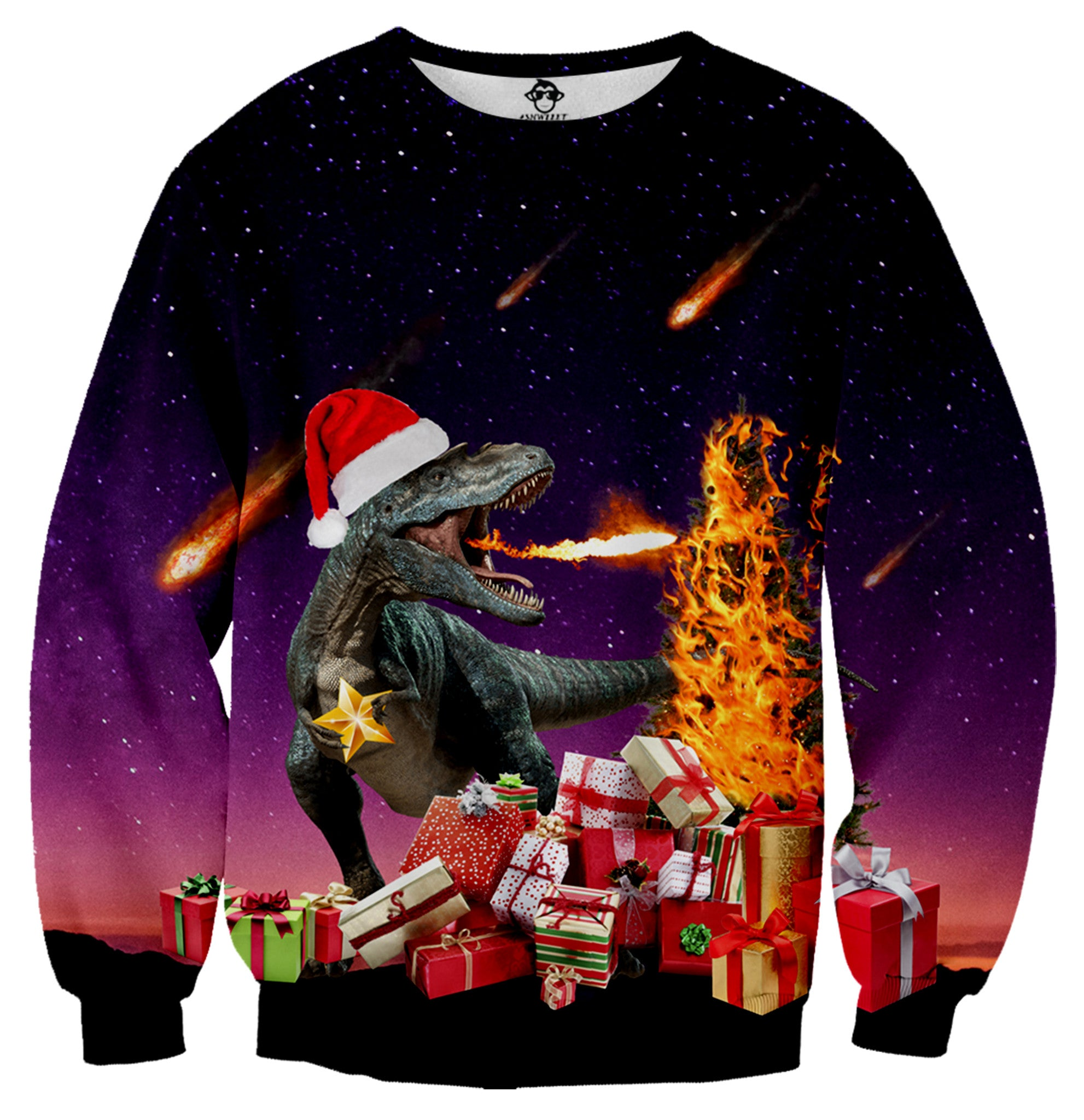 T-Rex Christmas Sweater - Shweeet