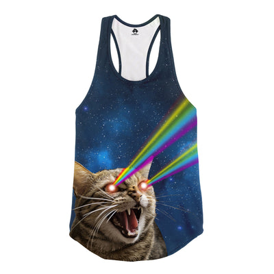 Galaxy Laser Cat Racerback Tank top