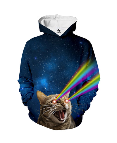 Galaxy Laser Cats Hoodie