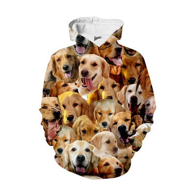 Golden Retriever Faces Hoodie