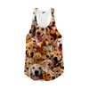 Image of Golden Retriever Faces Racerback Tank Top