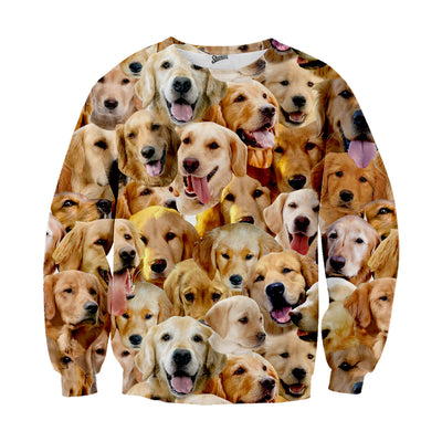 Golden Retriever Faces Sweater
