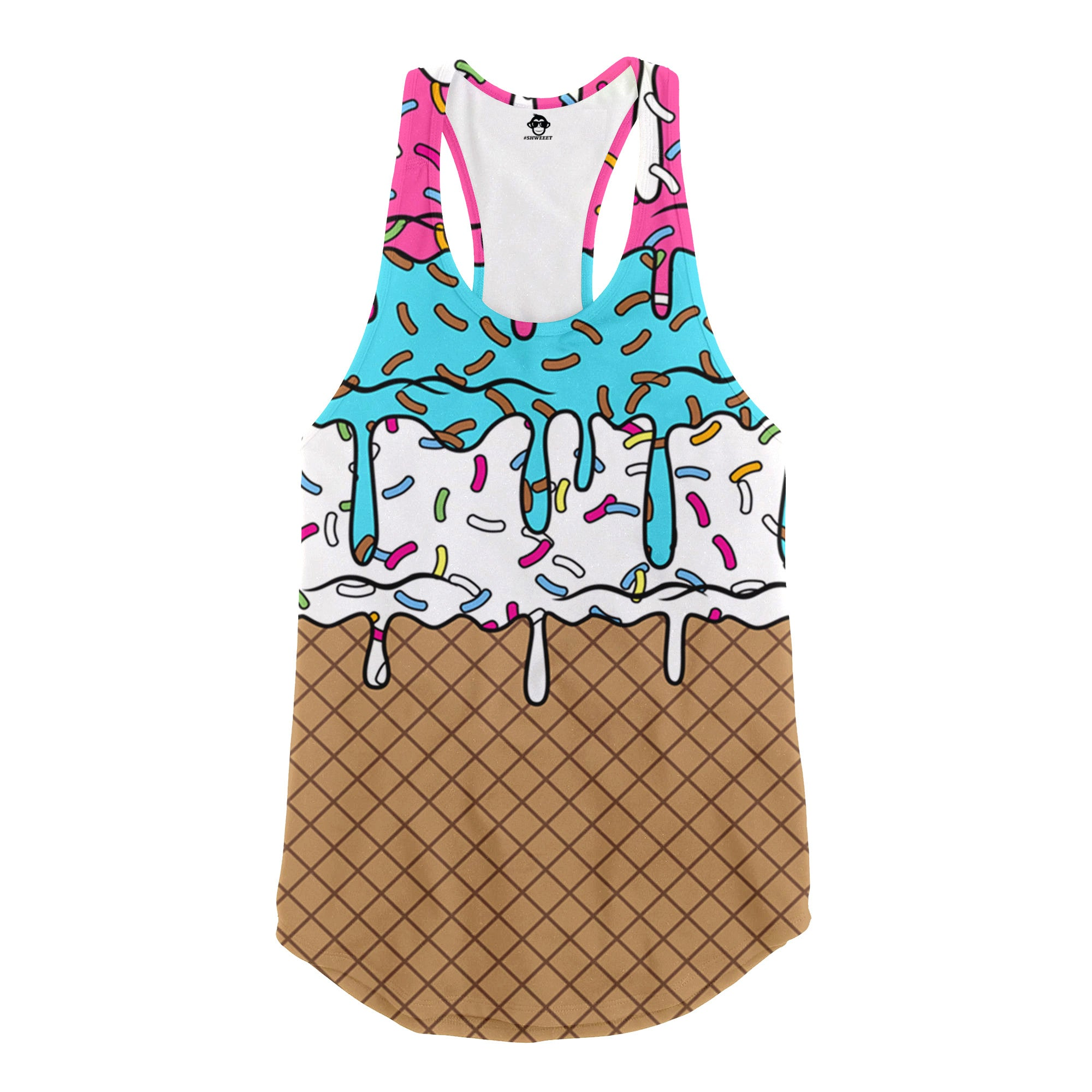 ice cream racerback tank top