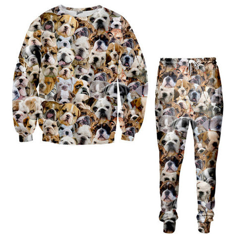 Bulldogs faces Sweater and Jogger pants - Shweeet