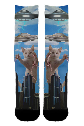 Crazy Cat UFO Socks - Shweeet