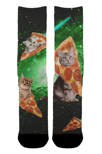 Cat Pizza Galaxy Socks - Shweeet