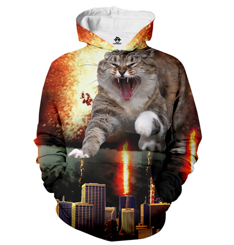 Fire Cat Destroyer Hoodie