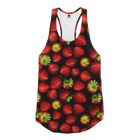 Strawberry Racerback Tank Top - Shweeet