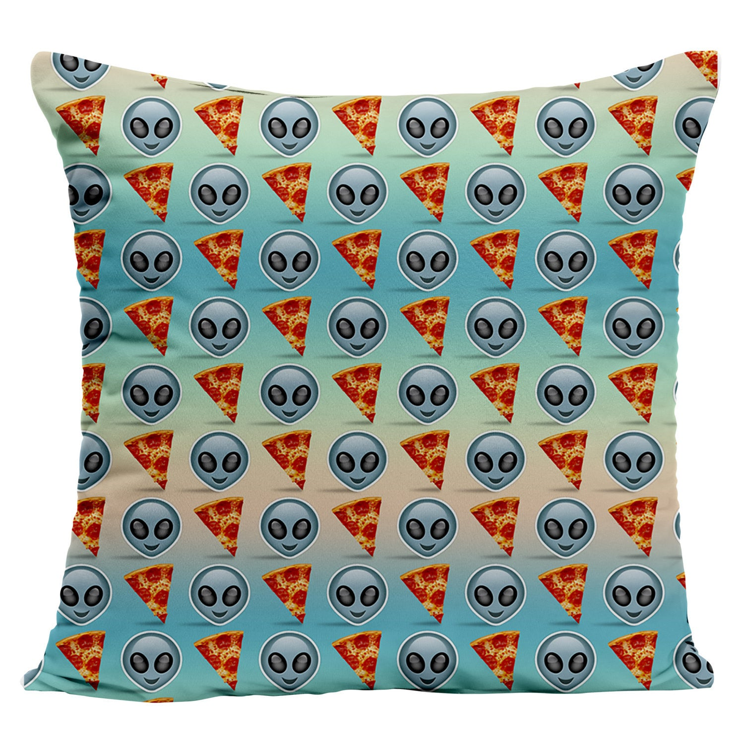 Alien Pizza Emoji Pillow - Shweeet