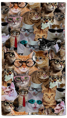 Cats Glasses Towel - Shweeet