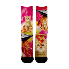 Cats Pizza UFO Socks - Shweeet