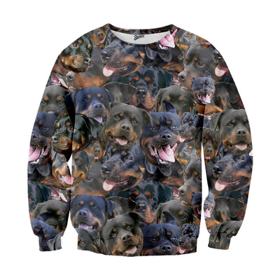 Rottweiler Faces Sweater