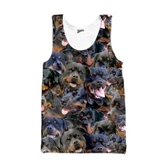 Rottweiler Faces Tank top