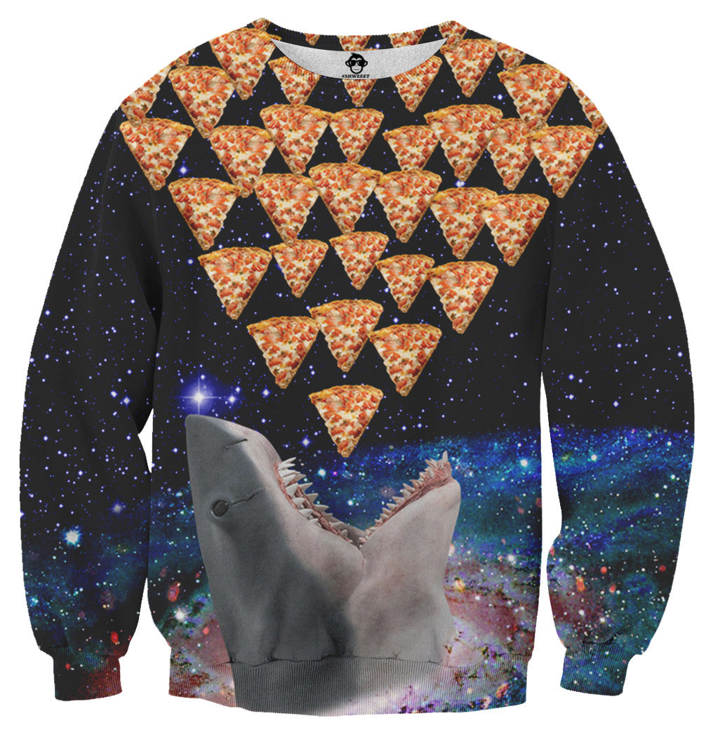 Shark Galaxy Pizza Sweater - Shweeet