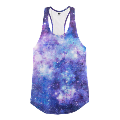 purple galaxy racerback tank top