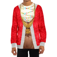 Lit Santa Christmas Sweater
