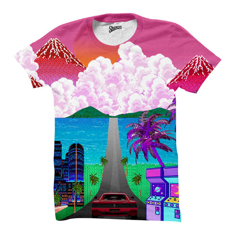 Joyride All over print vaporwave shirt