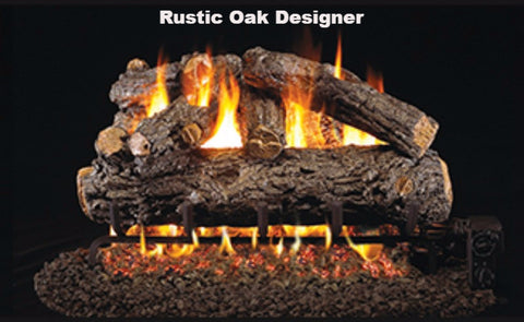 "Realfyre Vented Logs for G4, G45, G46 Series - Rustic Oak Designer - 18"" - HRD"